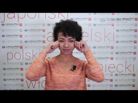 Kadr z filmu na youtube - Czasowniki