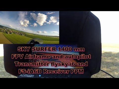 skysurfer1400mm With Flysky 2.4G 6CH FS-iA6B Receiver PPM