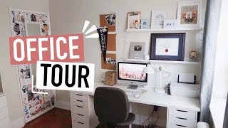 HOME OFFICE TOUR | stationery organization + desk inspo