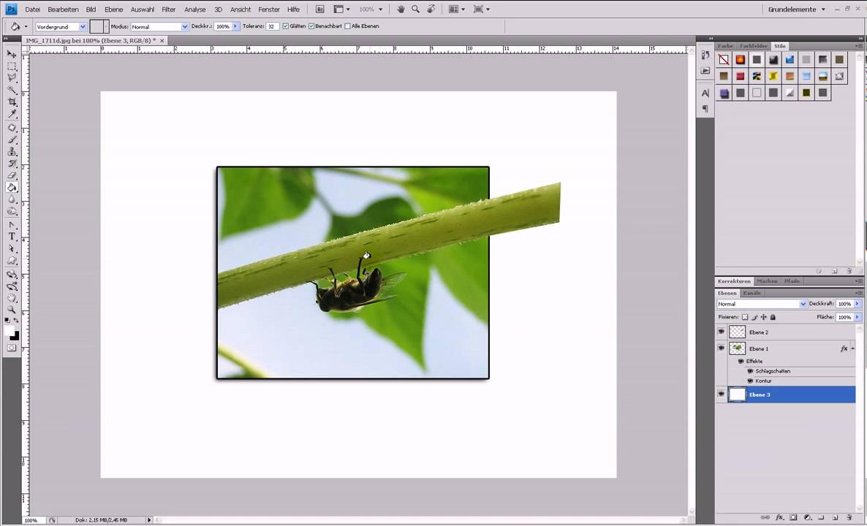2D-Bild mit 3D-Effekt (Out Of Bounds) – Photoshop-Tutorial