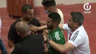 هكذا غادر رفقاء رياض_محرز ملعب رادس بعد فوززهم أمام  تونس بثنائية نظيفة   ⚽🇹🇳🤝🇩🇿✌️