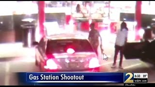 Police Gas Station Shootout Starts After Man Looked At Another Man