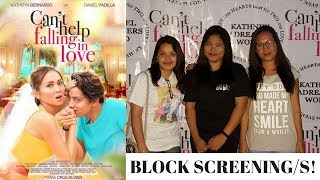 CAN'T HELP FALLING IN LOVE BLOCK SCREENING/S WITH KATHNIEL! | Marjorie Rayos