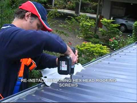 How to Install SafetyLink Height Safety Ladder Stabilizer the Ladderlink on a metal roof