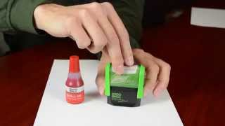 Re-inking Your 2000 Plus Self-Inking Message Stamp