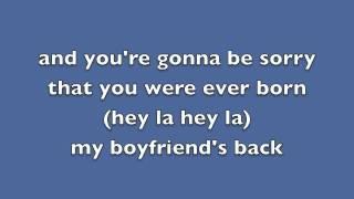 My boyfriends back lyrics