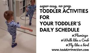Easy, Fun, No-prep And No-mess Indoor Toddler Activities At Home For Your Daily Toddler Schedule
