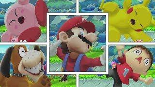 Screen KO | All Characters + DLC (Smash Bros Wii U) + Smash Bros Ultimate Comparison