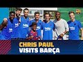 NBA star Chris Paul visits Barça's training session