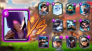 WITCH VS ALL CARDS IN CLASH ROYALE | WITCH 1 ON 1 GAMEPLAY