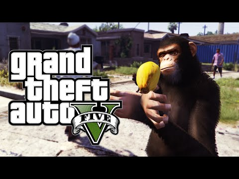 GTA 5 PC Skits: Gangster Chimp, Drag Race, Dogs & More! (Funny Moments W/ Mods)
