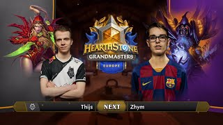 Thijs vs Zhym - Division B - Hearthstone Grandmasters Europe 2020 Season 1 - Week 6