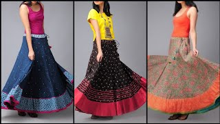 Beautiful And Outstanding Cotton Long Maxi Skirts Dress Design