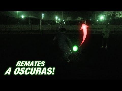 BALÓN DE LUZ A OSCURAS!!! ¡RETO FÚTBOL ÉPICO!
