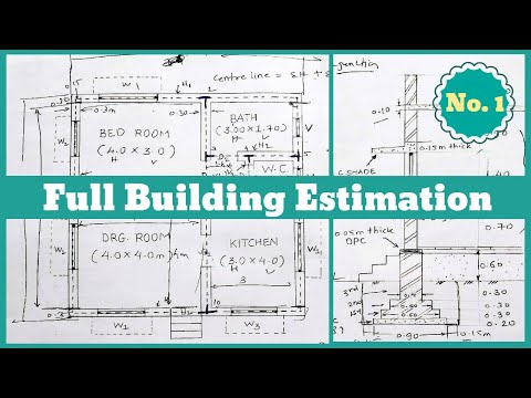 Estimation || Building Estimation and Costing || Estimation and ...