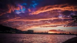 Таймлапс природа, закат Киев   Time lapse video Kyiv