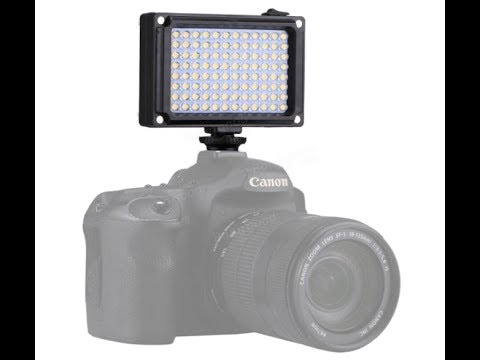 Φλάσαρα ή Φλασάρα?? PULUZ PU4096 96 LEDs 860LM Pro Photography Light for DSLR Cameras