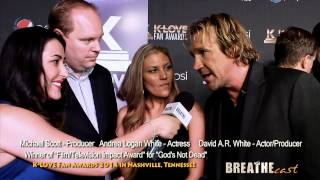 'God's Not Dead' Cast & Crew: Shane Harper, David A.R. White, and More at K-LOVE Fan Awards 2014