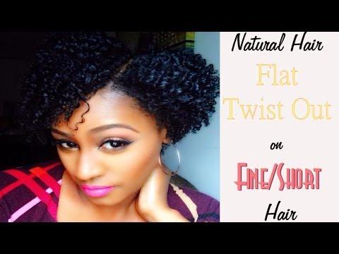 Natural Hair   Flat Twist Out On Fine/Short Hair