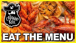 "🦀  ""EAT THE MENU"" 🦀  at The Captain's Boil Restaurant"