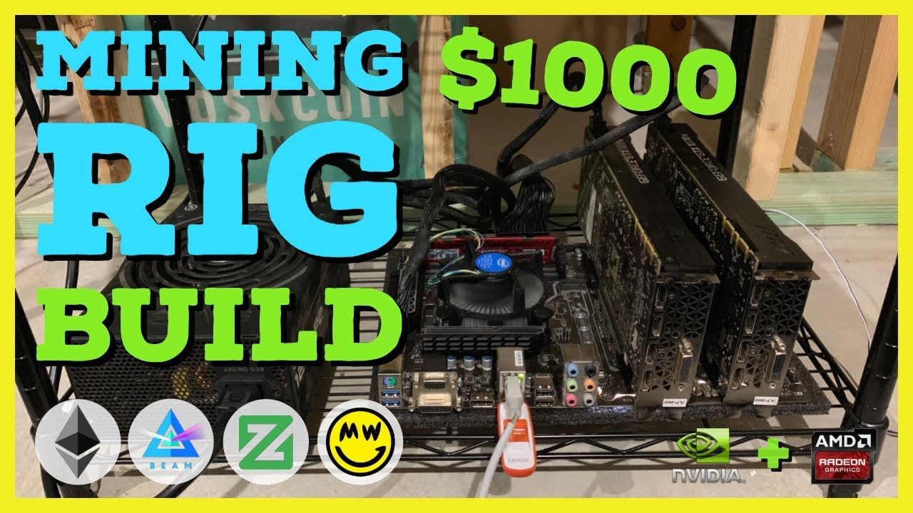 How To Build a Crypto GPU Mining Rig With $1000 or Less! Duo Miner! Beginner Guide ETH/Beam/Zcoin #crypto #beginner