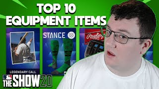 Top 10 Equipment Items MLB The Show 20 Diamond Dynasty Road to the Show