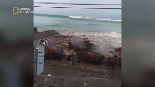 Ostrzeżenie przed tsunami zostało odwołane, a jednak woda zaatakowała! [Niszczycielskie żywioły]