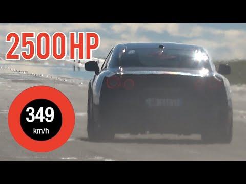 2500馬力の日産R35 GT-R 動画で見るR35の驚異的なフル加速
