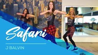 Safari - J Balvin - Watch on computer/laptop Easy Fitness Dance Choreography