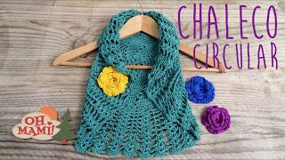 Bolero O Chaleco Circular  A Crochet ( TODAS LAS TALLAS)