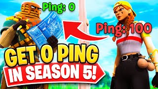 How To Get 0 Ping in Fortnite Season 5! - Get Lower Ping Fast! - PC, Console & Mobile Tips