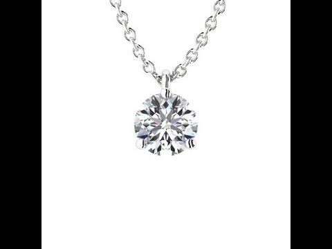 pendentif diamant 3 griffes