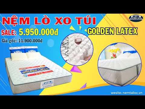 NỆM LÒ XO TÚI CAO CẤP GOLDEN LATEX