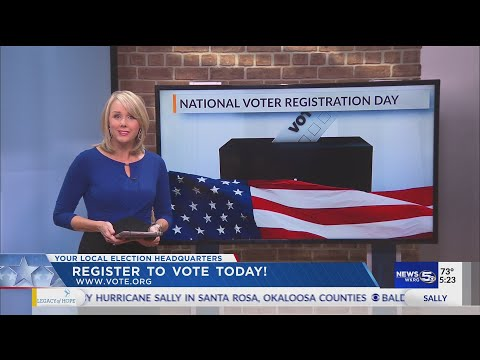 VIDEO: National Voter Registration Day: How to register to vote in Alabama