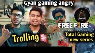 Carryminati react on Free fire bekar hai? Technical sagar || Gyan gaming angry || Total Gaming