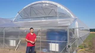 Теплица для бизнеса - обзор современной фермерской теплицы  9,6х50