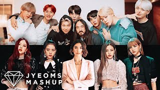 BTS, STEVE AOKI, BLACKPINK, DUA LIPA   WASTE IT ON ME X KISS & MAKE UP (MASHUP) [feat. 피 땀 눈물 & 불장난]