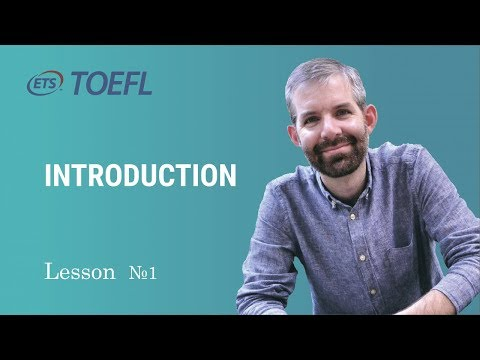 TOEFL Preparation. Lesson 1. Introduction with Jonathan - YouTube