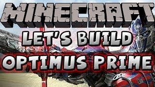 Minecraft Let's Build - Transformers Optimus Prime
