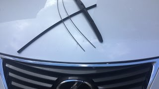 How to replace LEXUS/TOYOTA wiper blade refill inserts