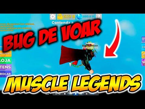 ROBLOX  Muscle Legends  NOVO BUG DE VOAR!!! MUITO TOP