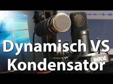 Dynamische vs Kondensator-Mikrofone - Vorteile, Nachteile und - Unterschiede beim Raumhall?