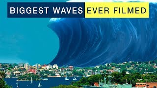 BIGGEST WAVES EVER FILMED (TSUNAMI, STORM, SURF, TYPHOON)