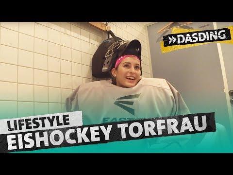 Eishockey Torfrau Michelle - allein unter Männern | DASDING Kaiserslautern