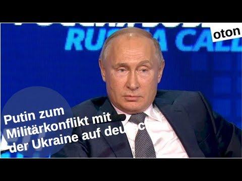 Putin zum Militärkonflikt mit der Ukraine auf deutsch [Video]