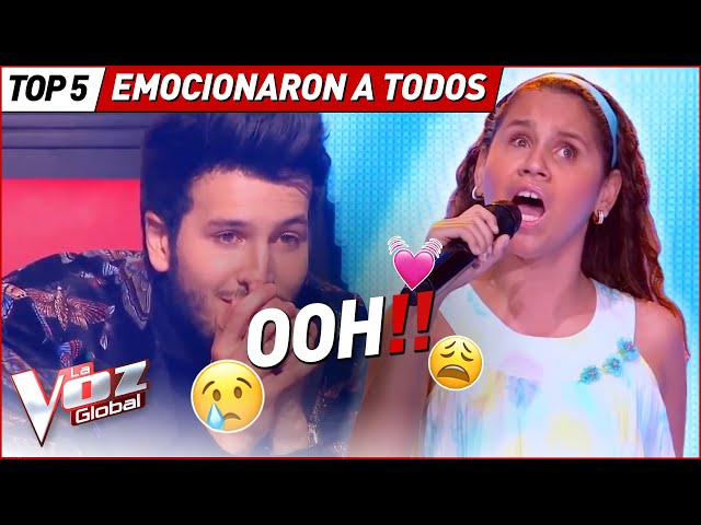 Coaches DROPED some TEARS with these performances in La Voz Kids