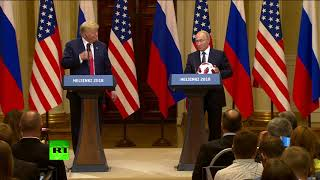 От президента президенту: Путин подарил Трампу футбольный мяч
