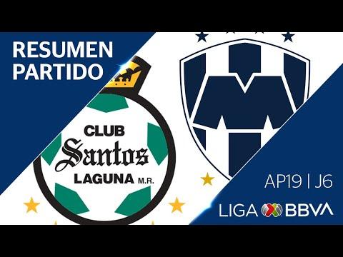 Resumen y Goles  | Santos Laguna vs Monterrey | Liga BBVA MX - Apertura 2019  - Jornada 6