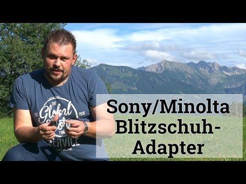 Sony/Minolta Blitzschuh-Adapter.