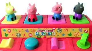 Mickey Mouse Clubhouse Pop Up Pals with Pig George and Peppa Pig SURPRISES 2017 by TOYS CLUB